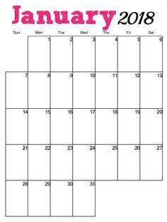 january 2018 calendars uk