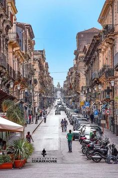 Via Garibaldi, Catania, Sicily, Italy Catania Sicily, Sicily Italy, Taormina Sicily, Cool Places To Visit, Places To Travel, Places To Go, Places Around The World, Travel Around The World, Around The Worlds