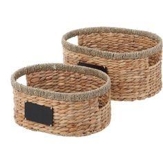 Better Homes and Gardens Hyacinth Twist Oval Basket, 2-Piece Set - Walmart.com