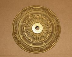 Solid Brass Ceiling Canopy for Light Fixture - 5 1/2  - Die Cast Ornate Lighting Part & 6