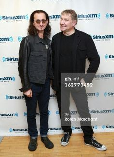 Geddy & Alex wearing each others shoes!