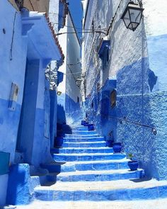 Blue City Morocco, Moroccan Blue, Travelling, Louvre, Building, Buildings, Louvre Doors, Architectural Engineering