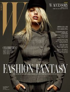 Daphne Groeneveld covers the October 2012 issue of W Korea. Photographed by Greg Kadel.