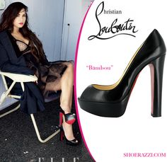 "replica louboutin sneakers for men - Demi Lovato in Christian Louboutin ""Jenny"" Knotted peep-toe ..."