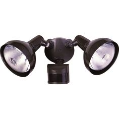 Secure Home 240-Degree 2-Head Dual Detection Zone Bronze Halogen Motion-Activated Flood Light with Timer