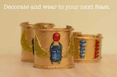 How to make an Egyptian armlet June 15, 2013 by Fiona Mair Leave a Comment  Jewellery was very important in ancient Egypt and was worn in...