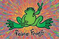 ☮ American Hippie Art Quotes ~ Peace  ☮ peace frog