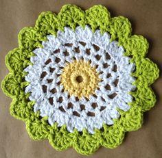 Moon Flower Dishcloth – Maggie Weldon Maggies Crochet