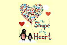 The Shape of My Heart by Mark Sperring & Alys Paterson--This is a good book to aid you in the teaching of shapes. It shows how if you look around there are a ton of shapes you can identify. I like how this book shows kids to look outside of the box. I would use this for K-1st.