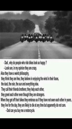 Motorcycle philosophy