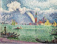 Paul Signac - Venice, pointilism