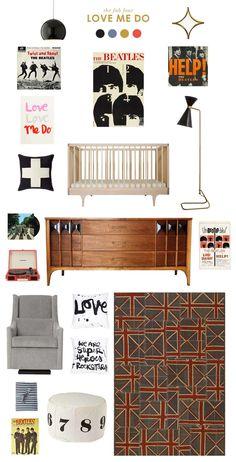 Tori and Adam - beatles baby nursery inspiration