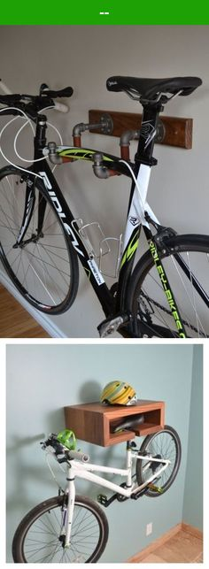3 Amazing Invention Ideas About Wall Mounted Bike Racks Bike Storage Design, Bike Design, Diy Storage, Storage Ideas, Hanging Bike Rack, Wall Mount Bike Rack, Vertical Bike Storage, Firefighter Workout, Bike Shelf