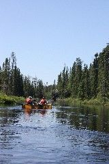 On a lake or a stream in the Boundary Waters Canoe Area is where I'd rather be.