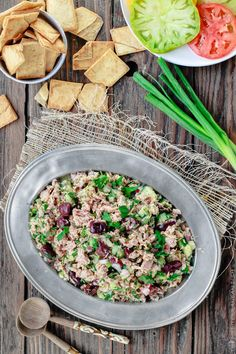 Healthy Food Choices, Healthy Eating Recipes, Healthy Cooking, Lunch Recipes, Salad Recipes, Cooking Recipes, What's Cooking, Rice Recipes, Mediterranean Tuna Salad
