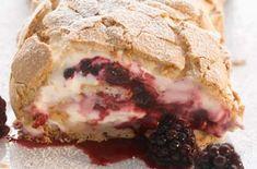 Gizzi Erskine's blackberry meringue roulade recipe - goodtoknow