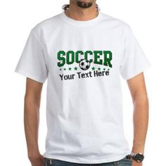 Cafepress Personalized Soccer White T-Shirt, Size: 3Xlarge