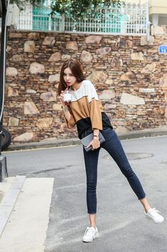 Korean fashion trends, asian fashion, fashion beauty, style fashion, fall o Korean Fashion Trends, Korean Street Fashion, Asian Fashion, Fashion Beauty, Girl Fashion, Fashion Outfits, Womens Fashion, Beauty Style, Style Fashion
