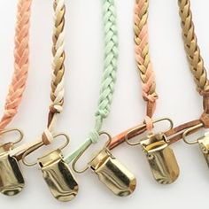 Leather Braided Pacifier clip & Natursutten Pacifier by @madelines.box