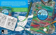 While we are excitedly awaiting the arrival of the print book proofs to arrive before we give the go ahead for our republication of TWIN TAILS: Song of The Siren (Book 2) and the relaunch event of TWIN TAILS Books 1 & 2, we've been working on the TWIN TAILS: Song of The Siren - The Coloring Book as well! Check out the mock-up book cover of this coloring book below!