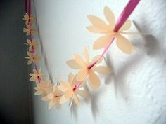 Easy Paper Projects: Paper Flower Garlands