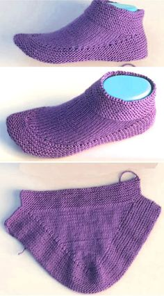 Knit booties in 15 minutes - tutorial - love amigurumi - knitting is so easy . - Knit Booties in 15 Minutes – Tutorial – Love Amigurumi – Knitting is as easy as 3 Knitt - Knitting Stitches, Knitting Socks, Knitting Patterns Free, Knit Patterns, Free Knitting, Baby Knitting, Knitting Tutorials, Craft Patterns, Knitted Baby