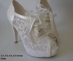 Wedding shoes, Bridal shoes, Bridesmaid shoes, Handmade shoes, GUIPURE lace wedding shoes , Choose heel height and color #8445