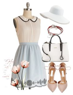 """flowers"" by masayuki4499 ❤ liked on Polyvore featuring Calvin Klein, Steve Madden, Lizzy James and Eric Javits"