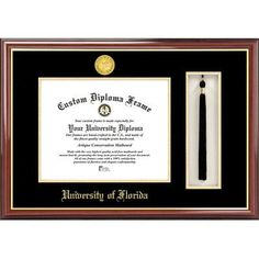 Campus Images NCAA University of Florida, Tassel Box and Diploma Picture Frame