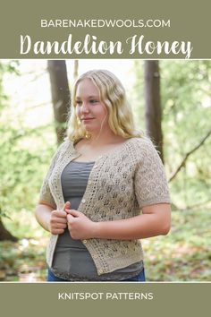 This breezy cardigan in 10 sizes (XS to L and 1X to 6X) is a workhorse in disguise—in heavy lace yarn, it's a pretty little nothing; fingering weight adds an organic coziness to span the seasons. Every part of this design has options—mix and match sleeve and body lengths, then choose your favorite neck style to customize. Substituting yarn and/or needles may result in an overall variation in size, drape, or yardage requirement. Grandpa Sweater, Lace Knitting Patterns, Fingering Yarn, Summer Knitting, Finger Weights, Stockinette, Pretty Little, Knit Cardigan, Organic