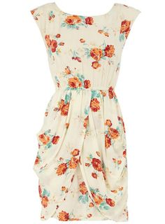 Floral print cotton dress...very vintage feel!