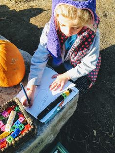 Outdoor Provocation: How can a pumpkin be measured? Exploring a variety of standard and non standard measuring tools. Lots of discussion and comparison being made when each tool was used. Some students extended their exploration my sketching and recording their findings on a clipboard.