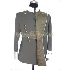 buttons on the inside of the maternity or double-breasted tunic