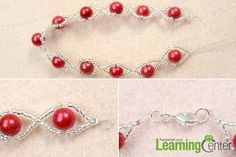 Finish making your own pearl bracelet