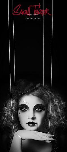 puppet master by on deviantART (halloween photography) Halloween Motto, Halloween Photos, Halloween Kostüm, Halloween Face Makeup, Puppet Makeup, Doll Makeup, Costume Makeup, Hair Makeup, Circus Photography