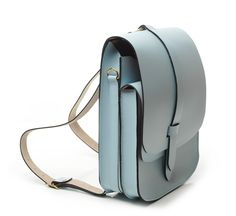 blue structured arlington rucksack by lost property of london