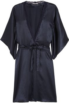 Stella McCartney | Clara Whispering lace-trimmed silk robe | NET-A-PORTER.COM