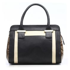 Sheila Colorblock Satchel with Detachable Shoulder Strap | Emilie M. Shop
