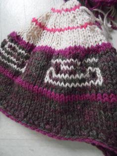 Bonnet péruvien femme alpaga et laine : Chapeau, bonnet par annbcreation