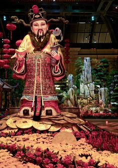Chinese New Year Decor at the Bellagio
