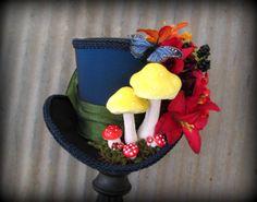 mini top hat, Alice in wonderland caterpillar mini top hat