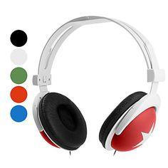 hovedtelefon 3,5 mm i løbet ear stereo lydstyrkekontrol for media player / tablet (assorterede farver) – DKK kr. 42