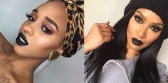 10 inspirações de maquiagem para te encorajar a usar batom preto