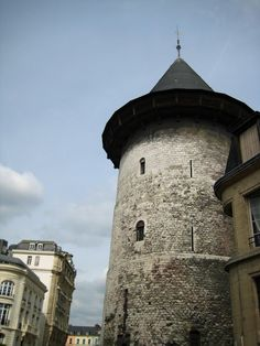 Tower where Joanne of Arc was kept before she was burned at the stake. Rouen, France