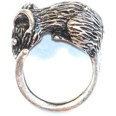 Large Rat Ring Size 6 Mouse Statement Mice Victorian Steampunk Vintage... ($9.90) ❤ liked on Polyvore featuring jewelry, rings, silver jewelry, victorian antique jewelry, antique vintage rings, antique rings and victorian rings