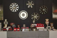Cool backdrop for a cars party! #cars #birthday #backdrop