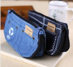 Creative Jeans Pencil Case Fashion Causal Cosmetic Pencil Bag For Women Girl Gifts School Supplies Material Escolar