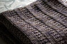 Easy Crochet Blanket   Knit/Crochet / Garter rib baby blanket (free pattern). Easy to enlarge ...