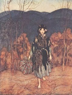 arthur rackham, fairytale art - reminds me of the Snow Child.... Such a lovely book.