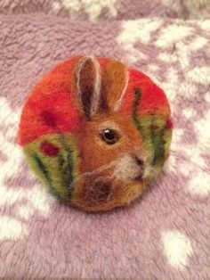 Handmade needle felted 'Hare' brooch in Crafts, Hand-Crafted Items | eBay